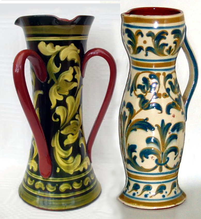 Aller Vale Scroll and Art Nouveau pottery