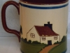 Longpark Pottery Mug for Henleys Cyder, cottage pattern