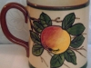 Longpark Pottery Mug for Symons Devonshire Cyder, apple pattern
