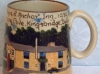 Devon Tors Pottery Mug; Reverse side Hope and Anchor Inn, Hope Cove
