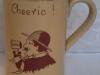 Devon Tors Pottery Mug from The Three Pilchards Inn, Polperro