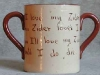 Watcombe Pottery Cider Mug, showing motto