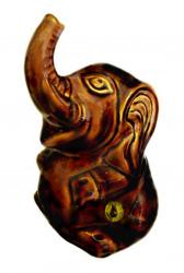 Dartmouth pottery, scarce elephant money-bank