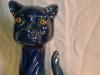 Aller Vale 12ins forward facing Cat, blue glaze