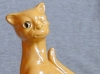 Aller Vale 6ins Winking Cat yellow glaze