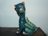Aller Vale 9ins Winking Cat in the rare turquoise with highlights combination