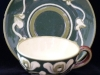 Aller Vale Pottery unusual-shape Cup & Saucer in D1 art nouveau pattern
