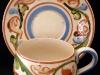 Aller Vale Pottery Cup & Saucer with B1 scroll pattern