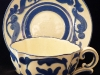Aller Vale Pottery unusual-shape Cup & Saucer with C1 scroll pattern
