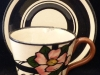 Longpark Pottery, Cup and Saucer with Rose