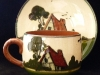 Tor Vale Pottery Cup and Saucer with distinctive Cottage