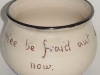 Daison Art Pottery Bowl motto side