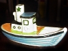 Dartmouth Pottery.-tug-boat-coloured