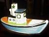 Dartmouth Pottery.-tug-boat-coloured