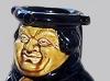 Dartmouth Pottery. Black Friar Gin puzzle jug