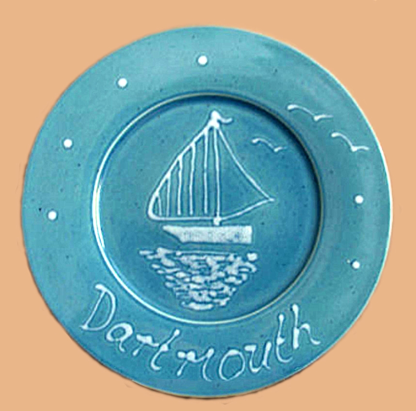Sailboat plate made in the last period