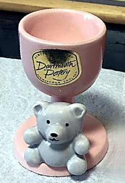 Teddy bear range egg cup from the Heath period