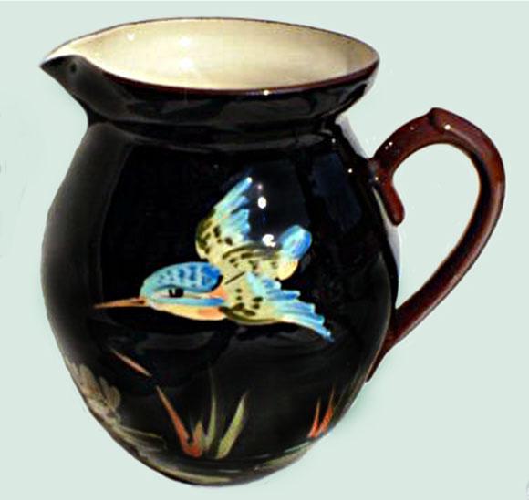 Devon Tors kingfisher jug