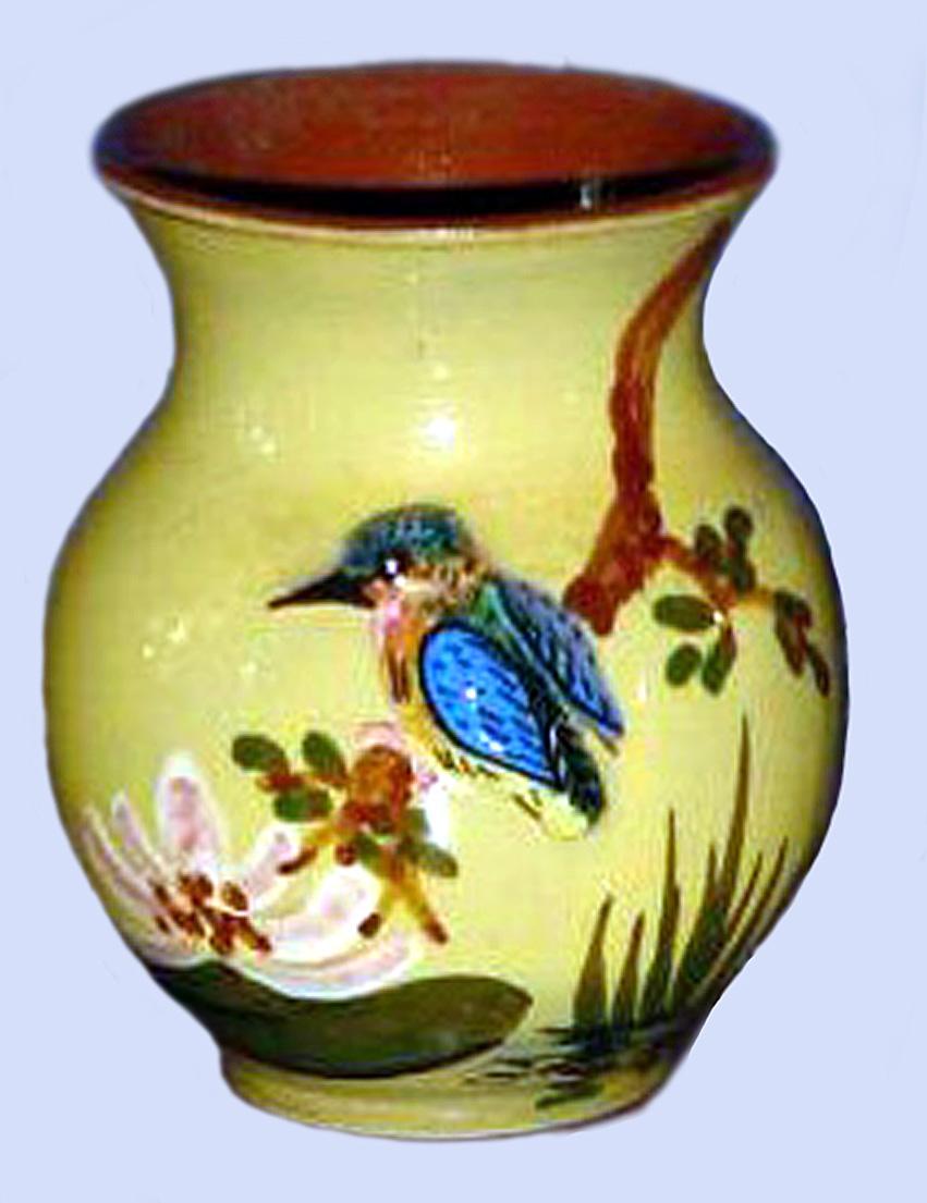 Devon Tors kingfisher vase