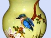 Devon Tors kingfisher vase