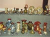 Aller Vale pottery pattern codes; 5 pics of a display at a TPCS meeting in the 1990s. #1