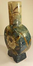 £74 Aller Vale Barbotine decorated banjo vase Dec \'14