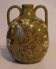 £37 rare Hart & Moist Vase with sgraffito design Feb \'14
