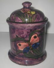 £25 Longpark Tobacco Jar with butterflies June 13