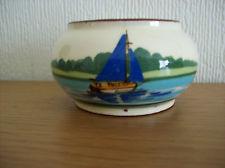 £8 Watcombe pot with unusual blue boat Nov \'15