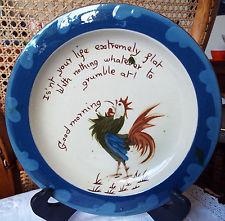 £73 Aller Vale rare 8ins cockerel plate Aug \'13