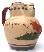 £62 Aller Vale extremely rare (unique?) jug with Sprigged Cow Sep \'13, af