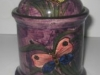 £25 Longpark Tobacco Jar with butterflies June 13