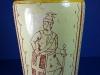 £94 Aller Vale vase with sgraffito knight Nov '15