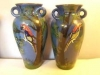 £30 pair of Torquay Pottery vases with applied parrots Nov '15