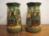 £62 Watcombe faience Vases Feb '15