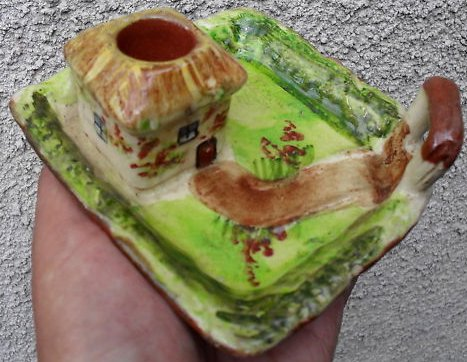 £22 Torquay Pottery Candleholder, Aug \'11