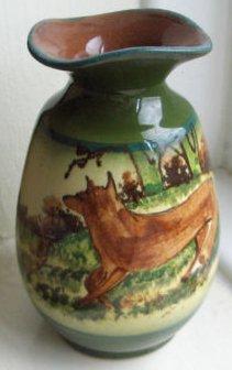 £29 Watcombe 4ins Faience Vase Aug\'11