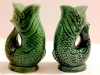 Dartmouth  Pottery. Gurgle fish salt and pepper pots
