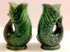 Dartmouth  Pottery. Gurgle fish salt and pepper pots
