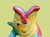 Dartmouth  Pottery. Gurgle fish Jug varied-coloured
