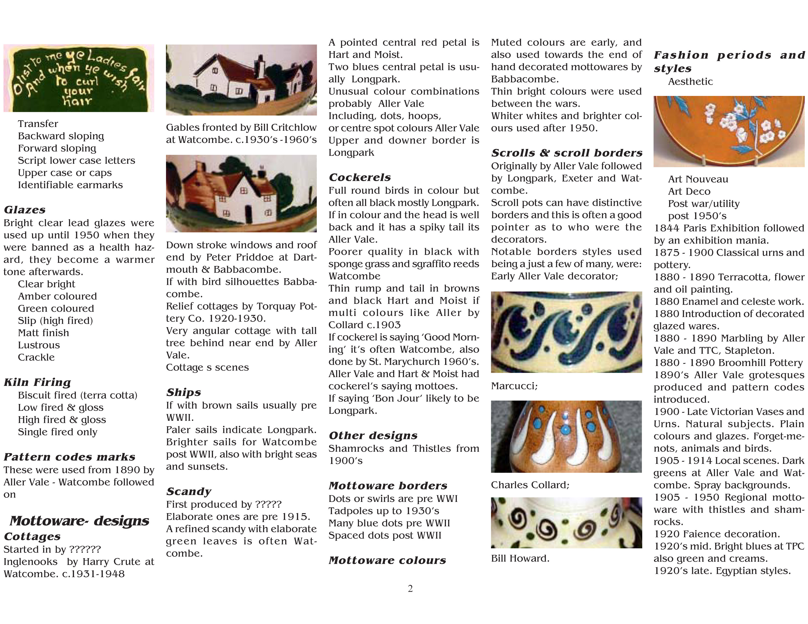 pointers2 - Hints to identifcating pottery.