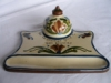 Longpark Pottery (Tormohun mark) Inkwell and Stand, matching Scandies