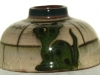 Watcombe Pottery Inkwell decorated with a green Cat