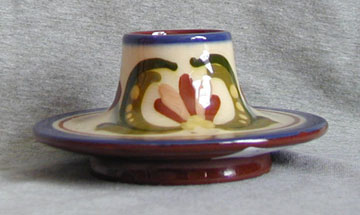 Watcombe Pottery Inkwell in unusual form, decorated with a Scandy