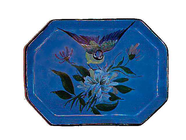 Lemon & Crute dressing table tray with blue tit
