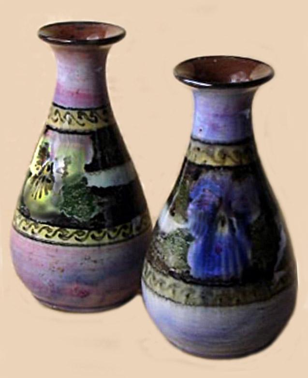 Lemon & Crute pair of floral vases.