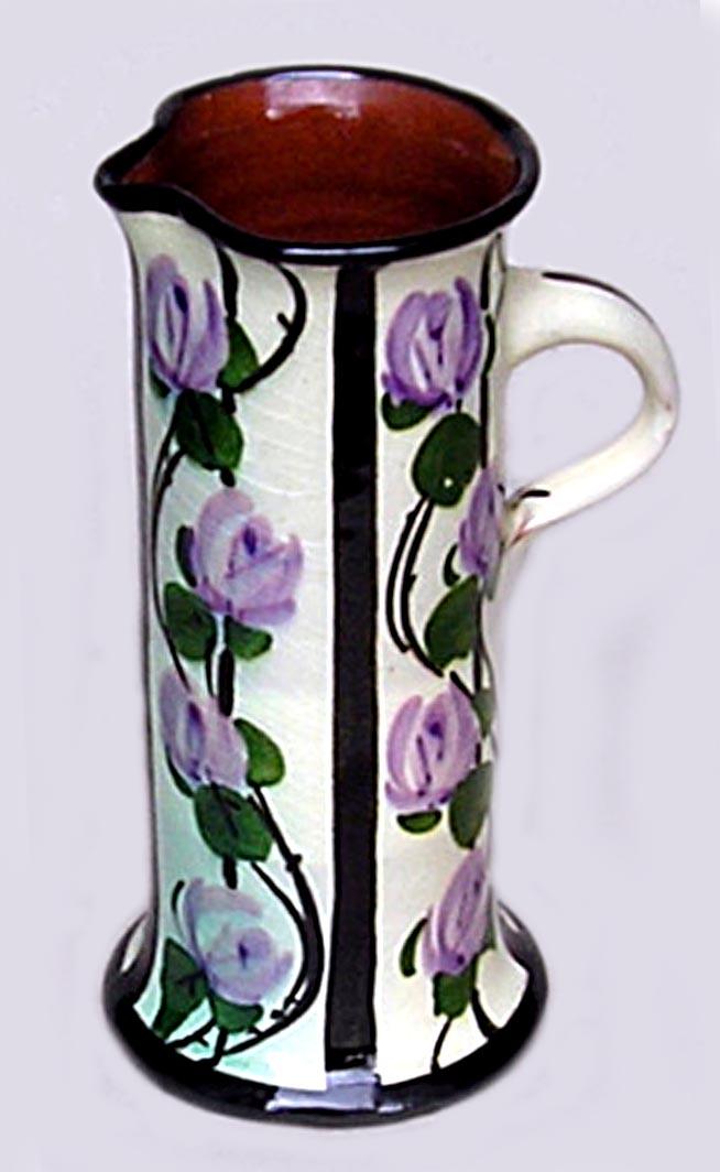Lemon & Crute jug with climbing flowers.