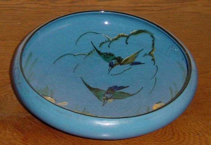Lemon & Crute Bowl decorated with Kingfishers