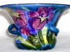Lemon & Crute Vase with Iris in flown glazes