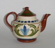 Longpark Pottery Teapot with scandy pattern